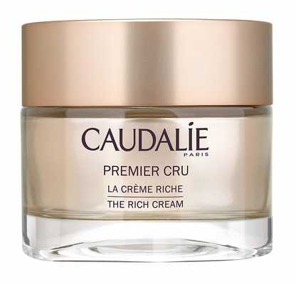 #5. Caudalie Premier Cru De La Cream Riche 1.7 Oz. /50 ml Smooth's Dry Skin Anti-Wrinkle Cream