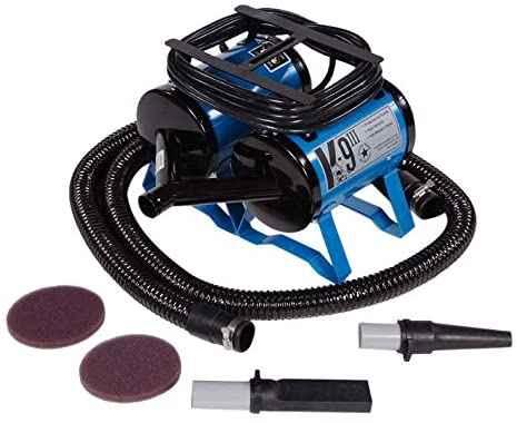 #7. K-9 III All Colors Portable & Lightweight 2-Speed Steel Body Dog Grooming Dryer & Accessories