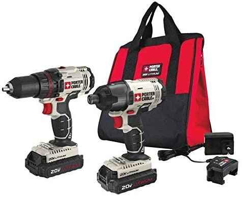 #2. PORTER PCCK604L2 2 Tool 20V Impact Driver Max Cordless Home Combo Kit
