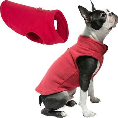 #2. Gooby Pullover Winter Small Dog Sweater Warm Dog Fleece Vest for Indoor & Outdoor