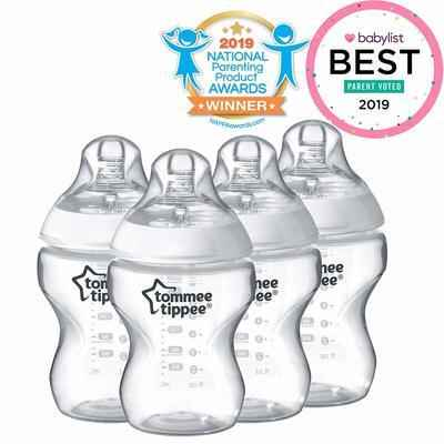 3. Tomme Tippee Breast-Like Nipple Slow Flow 9 Oz. Anti-Colic Closer To Nature Baby Bottle