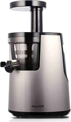 #1. HUROM HH-SBB11 Noble Slow Squeezing Tech Elite Slow Juicer w/Cookbook for Hard & Soft Fruits