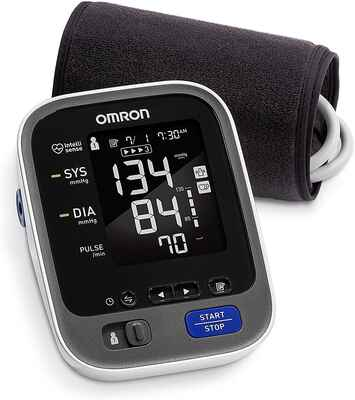 #3. Omron 10 Series Wrist Easy-To-Read Screen Wireless Blood Pressure Monitor