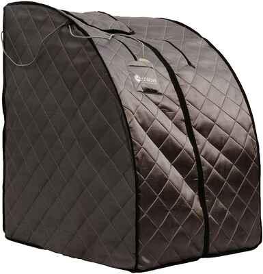 #2. HEATWAVE Canvas Seating 1-Min Setup BSA6310 Portable Rejuvenator Sauna Kit (Grey)