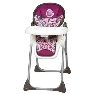 #6. Baby Trend Dishwasher Safe Tray Compact Steel Frame Sit Right High Chair (Paisley)