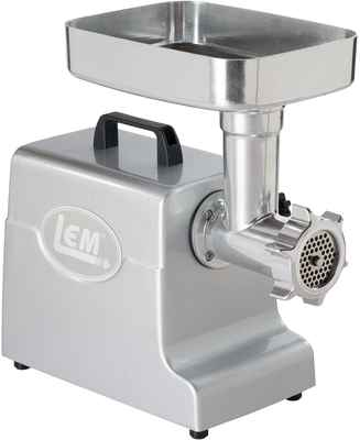 #2. LEM 500/1000W Goofproof 3-Stainless Steel Plates 1158 Mighty Bite Electric Meat Grinder