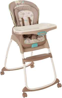#5. Ingenuity Trio 3-in-1 5 Point Safety Harness Sahara Burst Toddler High Chair & Booster
