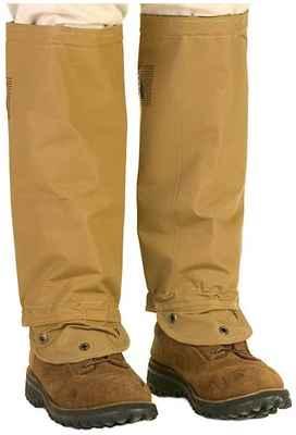 #1. TurtleSkin SnakeArmor Reversible Khaki 20'' Diameter Top Calf w/Zipper Snake Gaiters