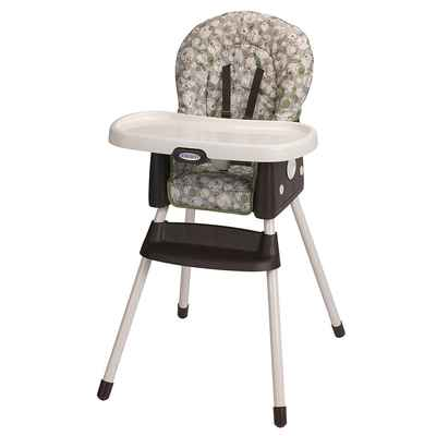 #4. Graco Portable SimpleSwitch 2-in-1 Washable One-Hand High Chair & Booster (Zuba)