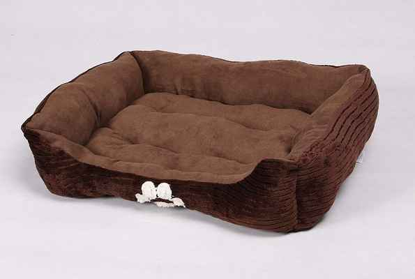 #6. Long Rich Medium Size Reversible Soft & Warm Rectangle with Dog Paw Embroidery Pet Dog Bed