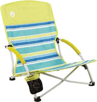 #3. Coleman Outdoor Lightweight Utopia Breeze Beach Camping Chair w/Low Profile