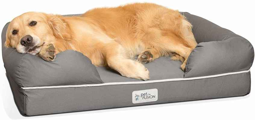 #2. PetFusion Ultimate Orthopedic Memory Foam Multiple Sizes YKK Zippers Breathable Dog Bed