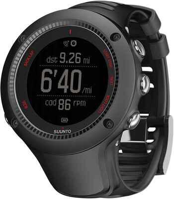 #10. SUUNTO Rubber Quartz Smart Sensor Ambit3 Run Black HR Monitor Running GPS Kit