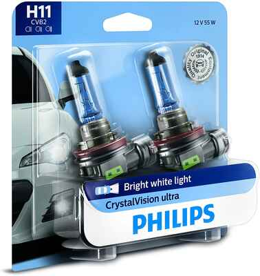 #10. PHILIPS H11 Cool Blue Reliable Performance Quality Seal 2 Pack Ultra-Upgrade Headlight Bulb