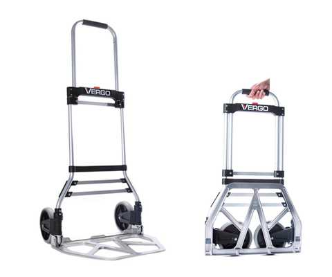 #6. Vergo S300BT 275 lbs. Capacity Lightweight & Sturdy Collapsible Hand Truck Dolly (Silver)