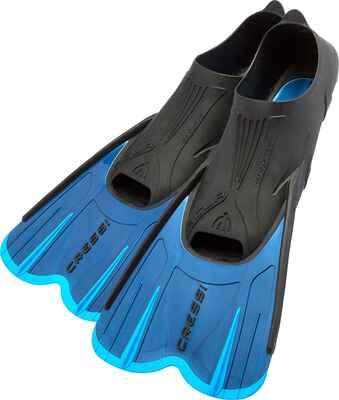 #1. CRESSI Self-Adjustable Full Foot Pocket Adult Short Swim Fins Ideal for Traveling