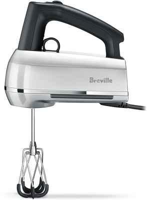 #3. Breville 2.3 Handy Quieter Mix Scraper 9-Speed Comfortable Design Hand Mixer (Silver)