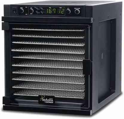 #1. Tribest Sedona Express Stainless Steel Trays SDE-S6780-B Digital Food Dehydrator (Black)