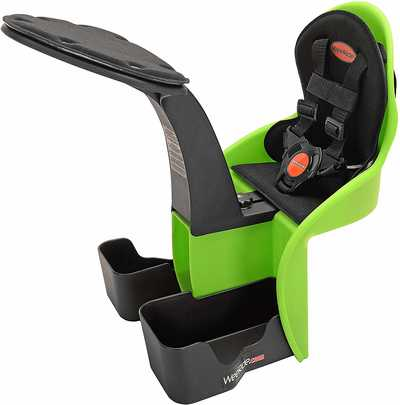 #6. WeeRide Kangaroo Center-Mounted Seat Harness Padded Front Bumper Child Bike Seat
