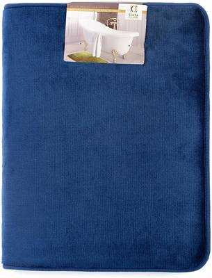 #1. Clara Clark Absorbent Memory Foam Non-Slip Cozy Velvet Feel Bath Mt Bathroom Rug (Royal Blue)