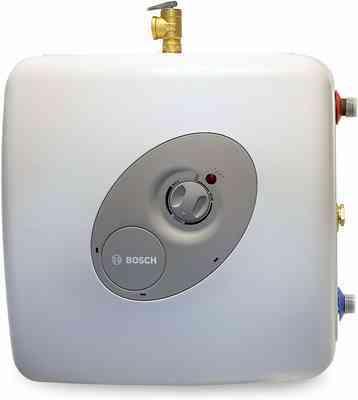 #2. Bosch 3000 T 7-Gallon (ES8) Shelf Wall & Floor Mounted Electric Mini-Tank Water Heater Tronic