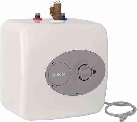 #4. Bosch 3000 T 2.5 Gallon (ES2.5) Shelf Wall & Floor Mounted Electric Tankless Water Heater