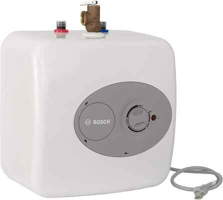 #3. Bosch ES4 4 Gallon Convenient 3000T Mini-Tankless Electric Water Heater for Hot Water