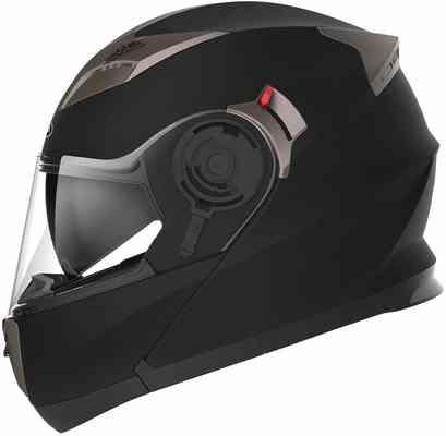 #6. YEMA YM-925 Dot Unisex-Adult Racing Modular Flip-Up Motorcycle Helmet (XL-Matte Black)