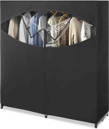 #3. Whitmor 60'' x 19.5'' x 64'' Extra-Wide Extra Strong & Durable Portable Wardrobe Organizer