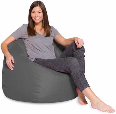 #3. Posh Bean Bags Large Removable Cover Polyester Cloth 35'' (Heather Gray)
