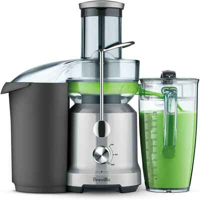 #3. Breville BJE430SIL Extra-Wide Safety Locking Arm 2-Speed Electronic Juice Fountain Cold
