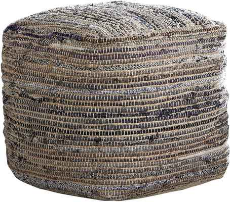 #6. Signature Design By Ashley Cozy Textures Instant Style Absalom Pouf Cotton/Hemp Ottoman