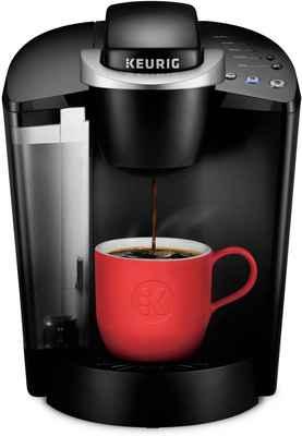 #4. Keurig Black 6 – 10 Oz K-Classic Single-Serve K-Cup Pod Coffee Maker Brew Sizes Kit