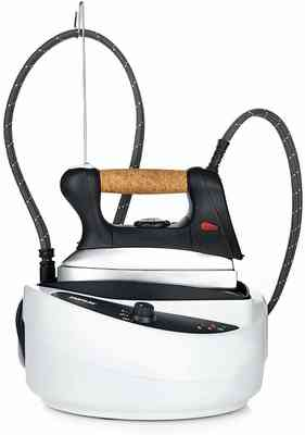#5. Dupray 1750W 60 Min/Fill Natural Cork Handle Anti-Scale Boiler Thermostatic Control Steam Iron