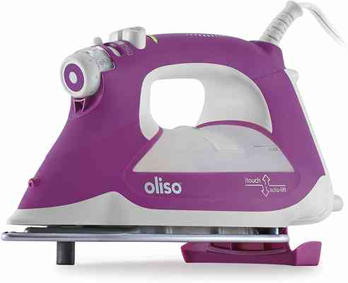 #10. Oliso RG1100 iTouch Technology 1800W Stainless Steel Soleplate Smart Steam Iron (Orchid)