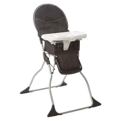 #8. Cosco 3-Position Adjustable Tray Easy Wipe Foldable Deluxe High Chair (Black Arrows)