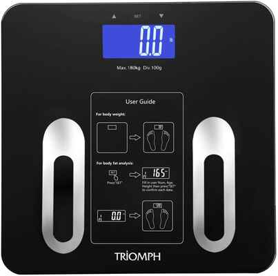 #6. Triomph 10 Users 400 lbs Digital Bathroom Weighing Scales Analyzer w/Backlit LCD (Black)