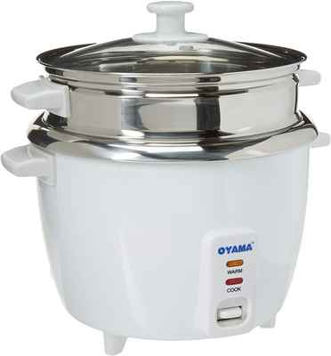 #1. Oyama CNS-A15U 120V Inner Pot Stainless Steel 16-Cup Tray Rice Cooker & Steamer