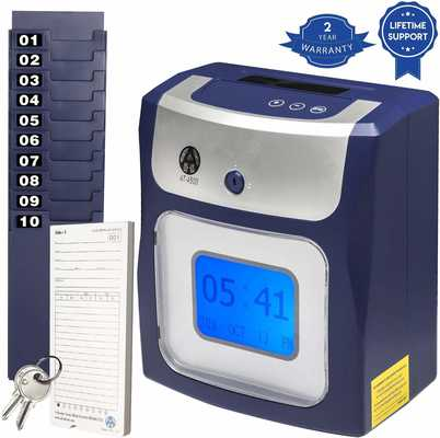 #8. Allied Time USA AT-4500 Easy Set Up Totals Regular & Overtime Hours' Time Clocks