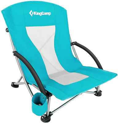 #8. KingCamp Low & High Mesh Back Low Sling Camping Beach Concert Folding Chair