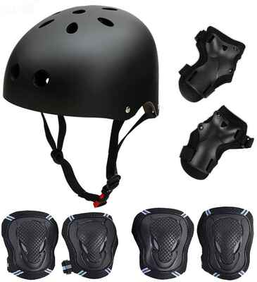#1. Besmall Helmet Wrists Pads Knee Elbow Pads Kid's Protective Gear Set for Skating & Cycling