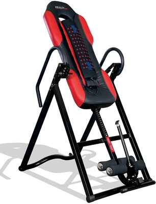 #1. Health Gear Heavy-Duty Advanced Technology Inversion Table w/Vibro Massage & Heat