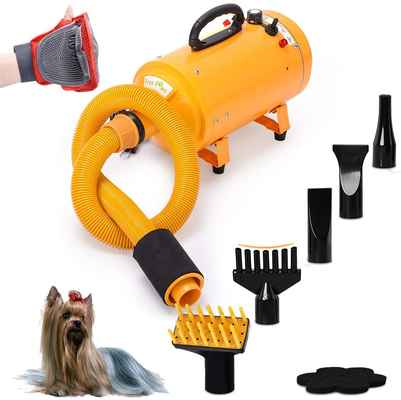 #5. Free Paws 2-Speed Adjustable 4.0 HP Heat Temperature Hair Grooming Dryer