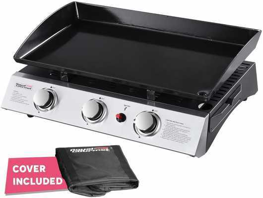 #6. Royal Gourmet PD1300 Stainless Steel Control Panel Propane Gas 3-Burner Grill Griddle