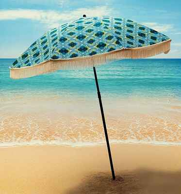 #3. Beach Brella Bahama Umbrella Windproof & Portable Sport w/Pointed Bottom Sand