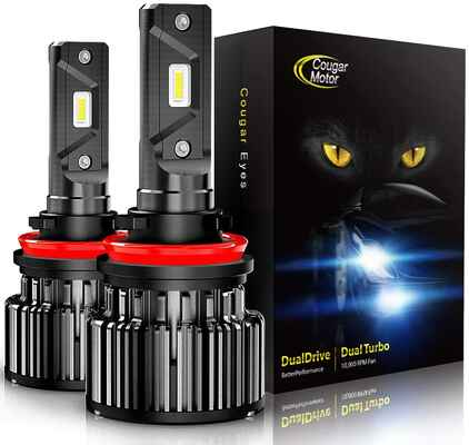 #3. Cougar H11 Halogen Cool White Quick Installation Low Fog Light All-in-One LED Bulbs Conversion Kit