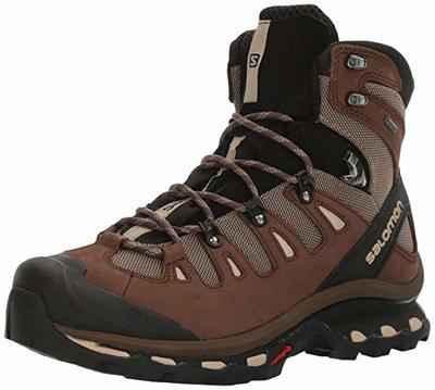 7. Salomon Men's Quest 4D 2 GTX Durable & Lightweight Leather Canvas Hiking Boots
