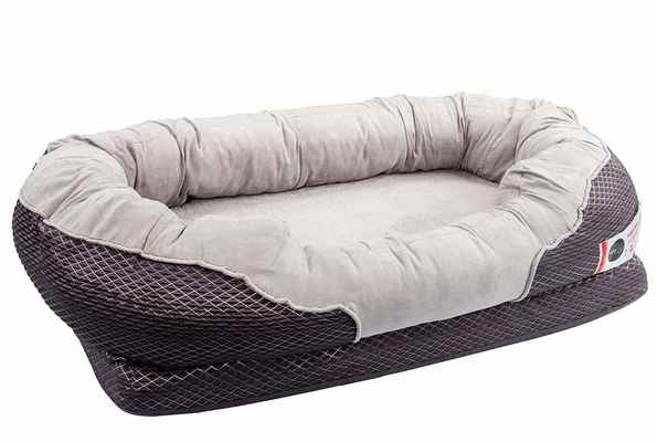 #7. BarksBar Gray Extra-Comfy Cotton-Padded Rim Cushion & Non-slip Bottom Orthopedic Dog Bed