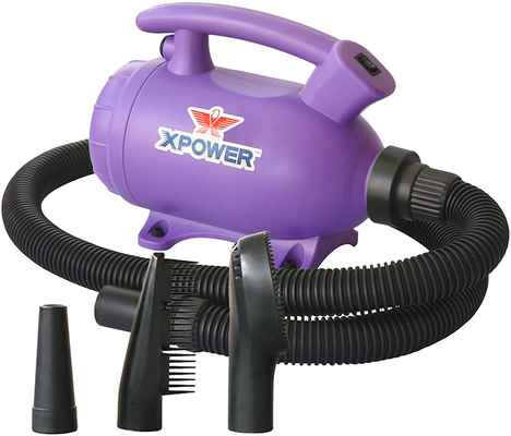 #9. XPOWER B-55 Portable 2 HP Home Pet Force Dryer for Home Grooming & Backup Dryer - Purple