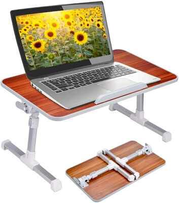 #3. AVANTREE American Cherry Adjustable Height Portable Lap Desk w/Foldable legs